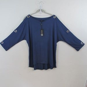 Cable & Gage NWT Woman's 3/4 Slit Sleeve